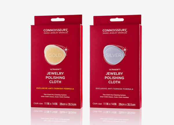 Connoisseurs Gold and Silver Jewelry Polishing Cloth Kit