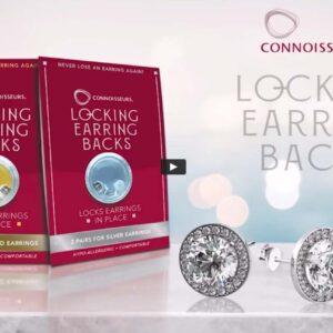 Silverlocks: Silver Locking Earrings Back